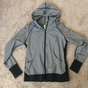 Black and grey scuba Lululemon jacket